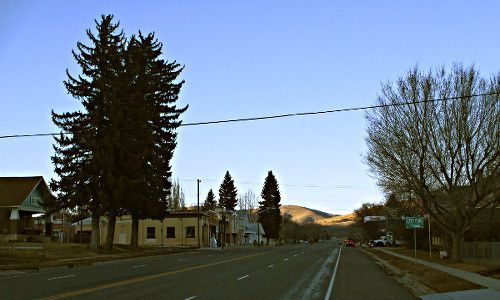 The community of Fountain Green in Sanpete County Utah main street..
