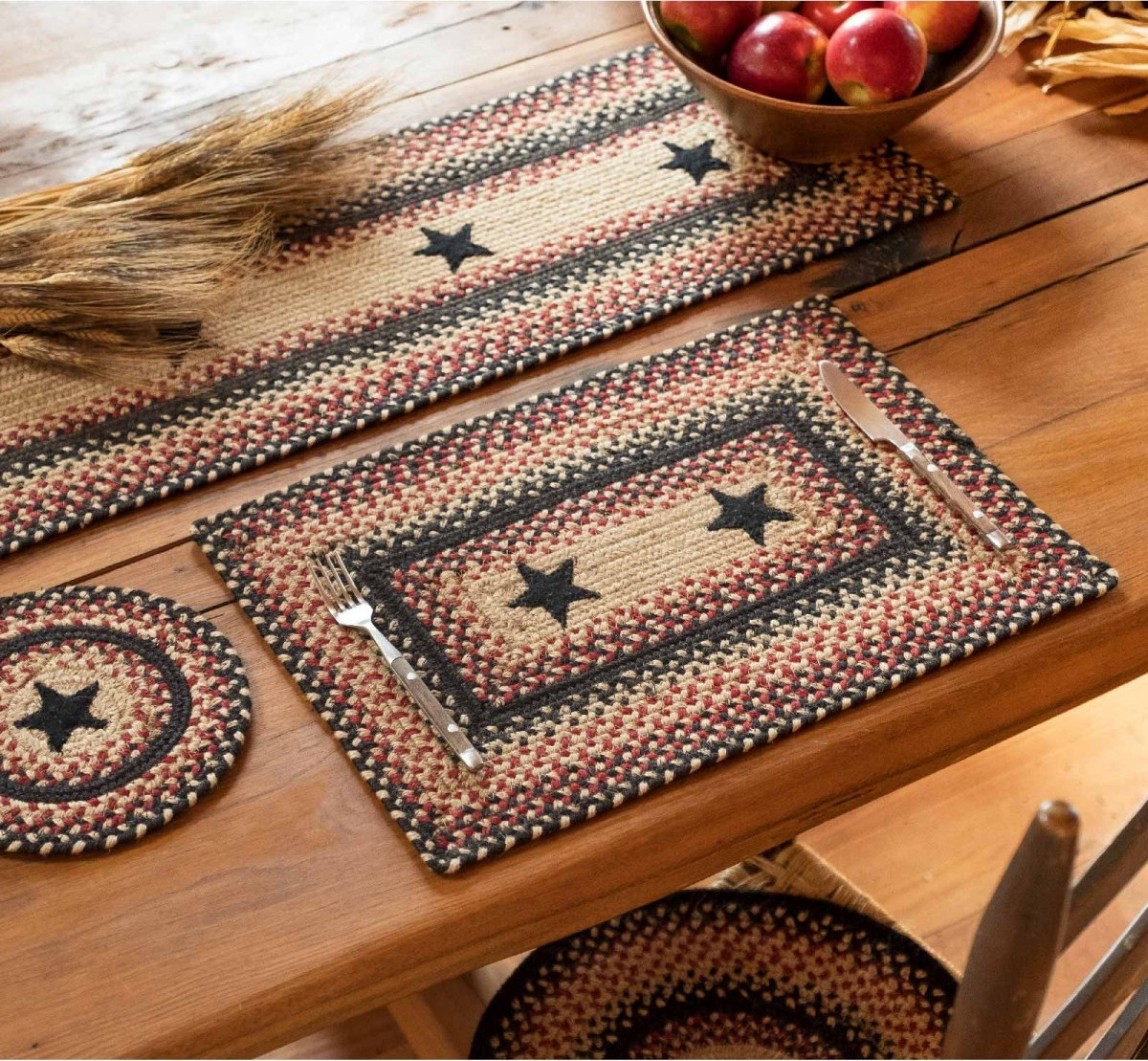 Buy Primitive Star Gloucester Jute Stair Tread Or Table Runner | Stair Treads And Runners | Non Slip | Mat | Treads Carpet | Bullnose Carpet Runners | Staircase