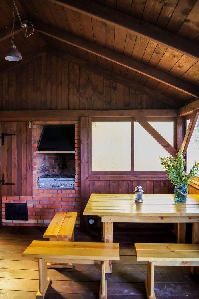 domek biesiadny z grillem