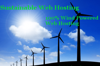 Wind Powered Web Hosting