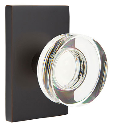 Emtek Modern Disc Crystal Door Knob