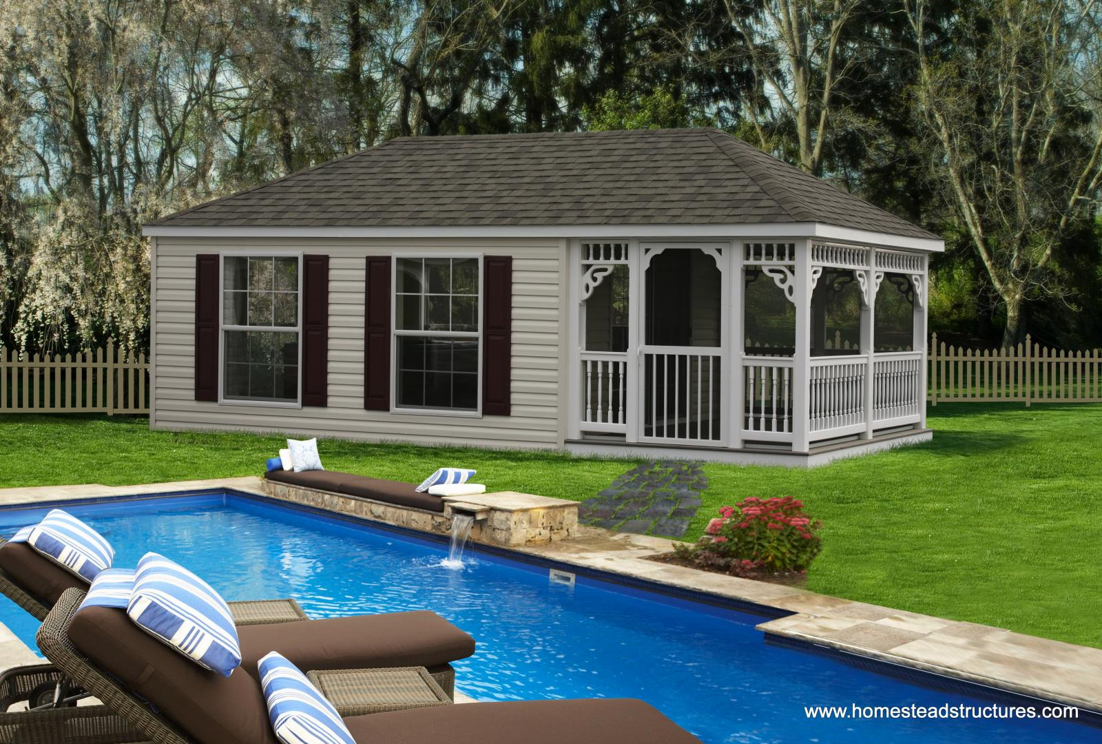 Custom Pool Houses Photos Homestead Structures