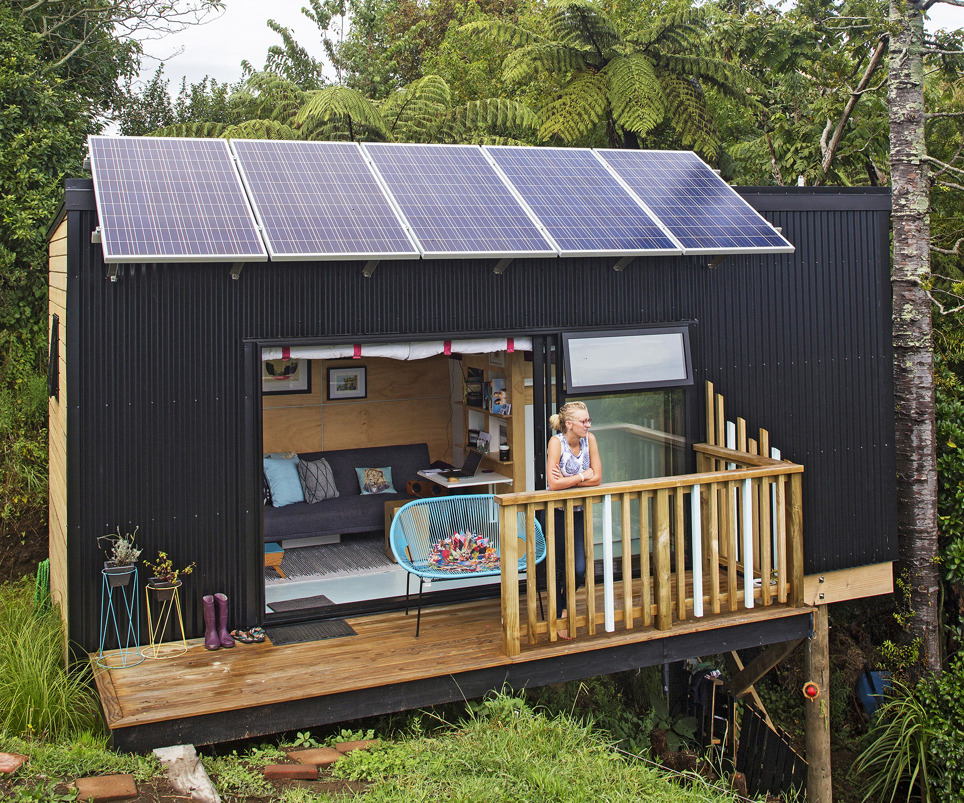 Best Kitchen Gallery: A House The Size Of A Shipping Container Has Everything Its Owners of New Zealand Shipping Container Homes on rachelxblog.com