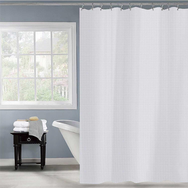 waffle shower curtain white 104046