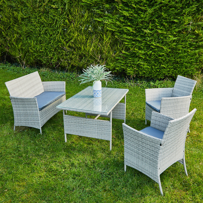 toulon rattan garden furniture set 4