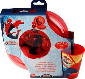 spider man meal set in themed packaging