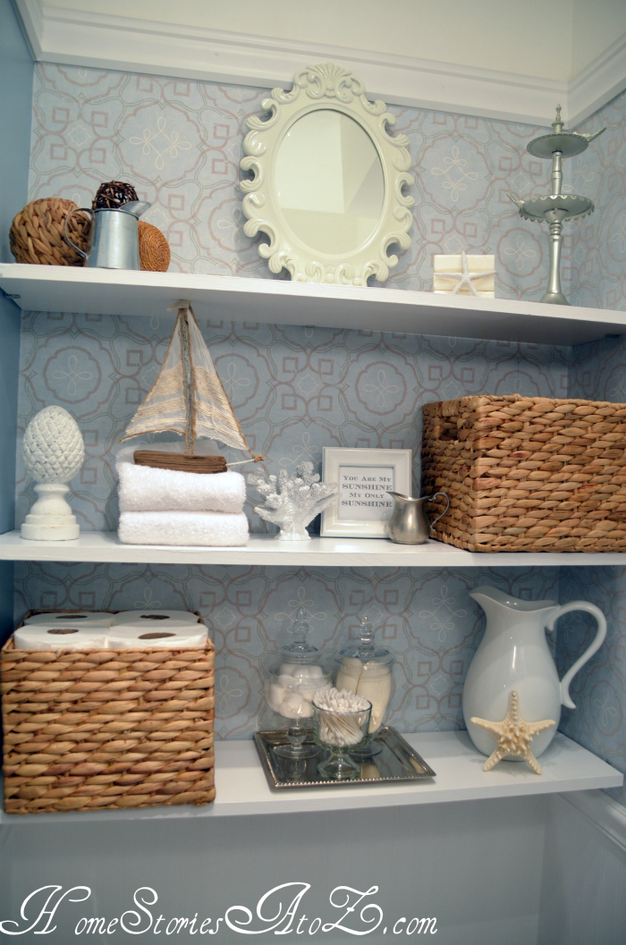 how to decorate shelves - home stories a to z
