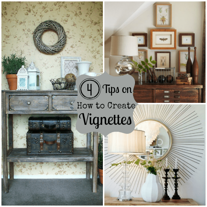 how to create a vignette in decorating