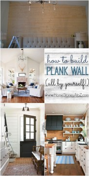 DIY Plank Wall Tongue and Groove Tutorial how to build plank wall