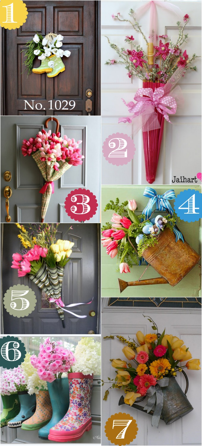 36 Creative Front Door Decor Ideas  not a wreath  Spring door decor ideas