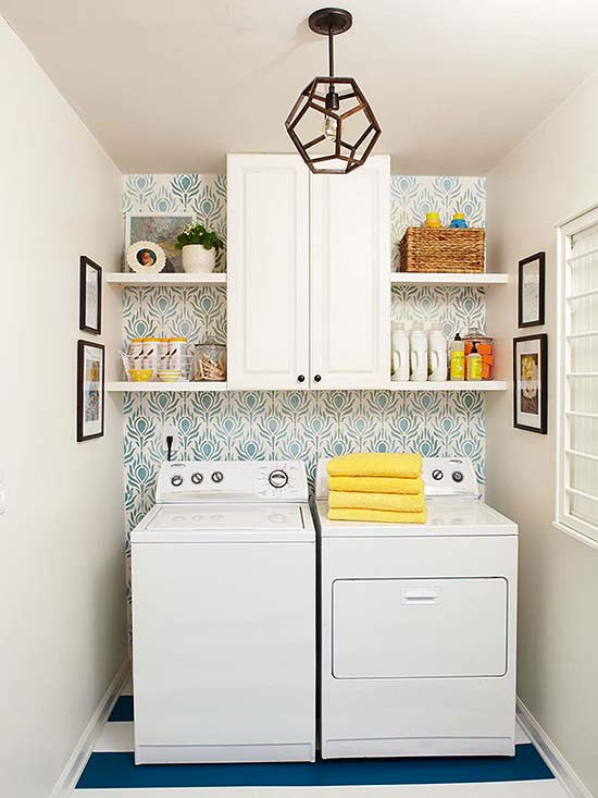 25 Small Laundry Room Ideas - Home Stories A to Z on Small Laundry Ideas  id=65685