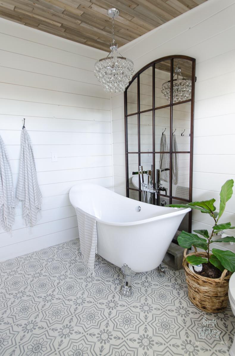 Urban Farmhouse Master Bathroom Remodel on Farmhouse Shower Ideas  id=32303