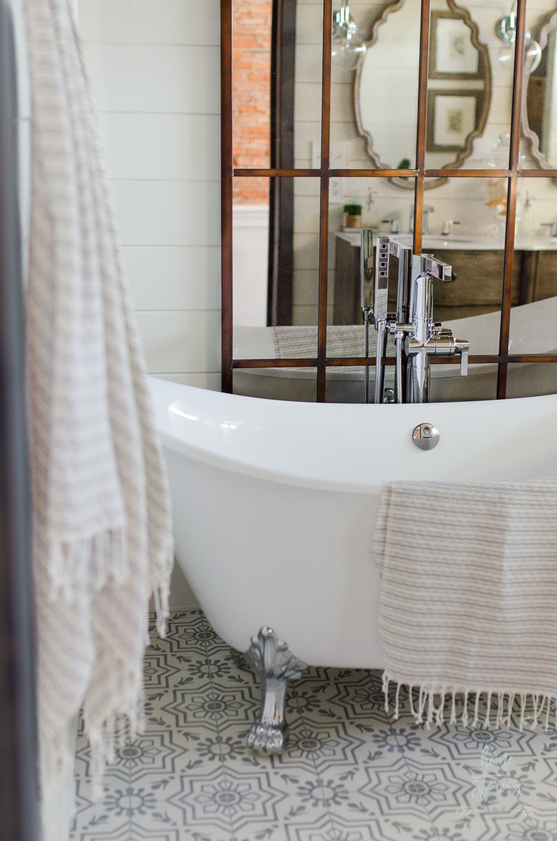 Beautiful Urban Farmhouse Master Bathroom Remodel on Farmhouse Tile Bathroom Floor  id=94146