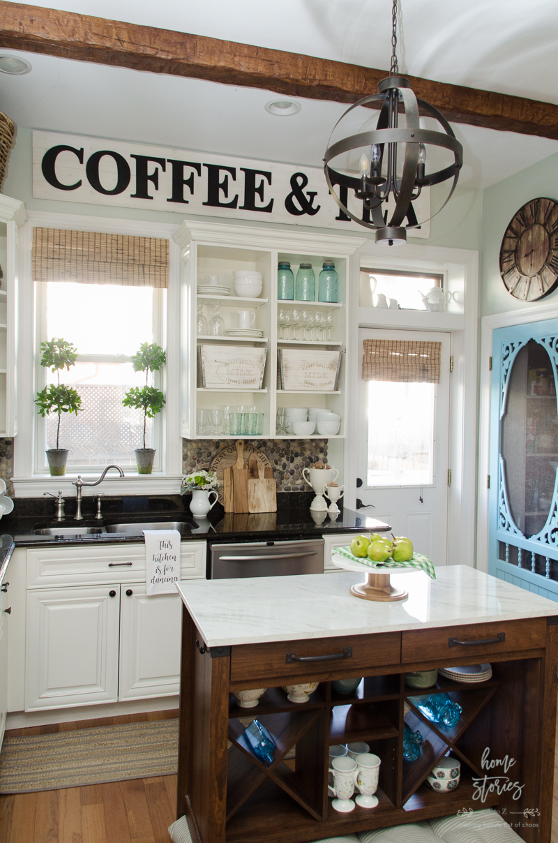 Spring Decorating Ideas on Farmhouse Kitchen Counter Decor Ideas  id=91690