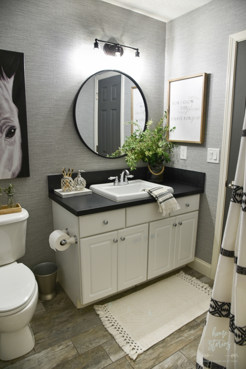4 Tips for Creating a Budget-Friendly Boho Farmhouse ... on Farmhouse Bathroom  id=90391