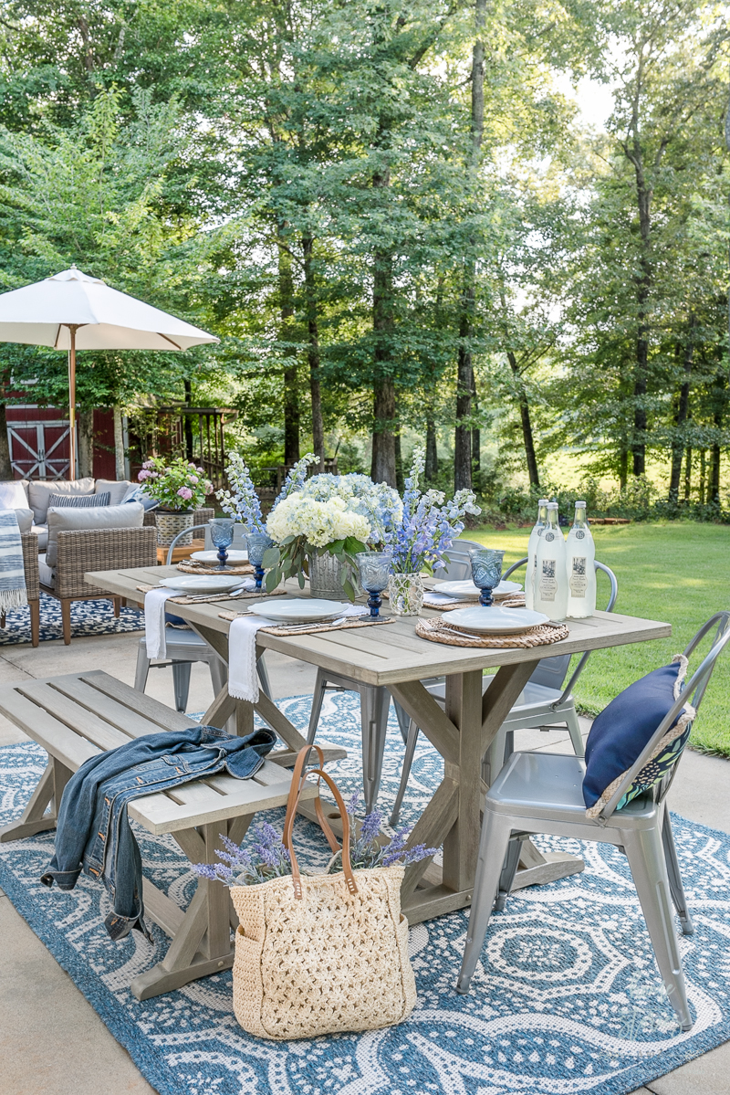 My Affordable Patio Furniture and Outdoor Decorating Tips on Backyard Table Decor id=22597