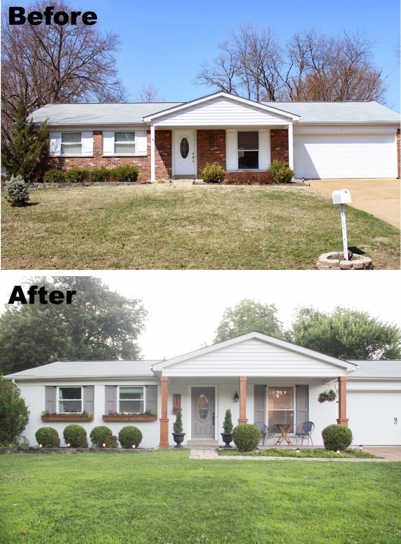 House And Exterior After Paint