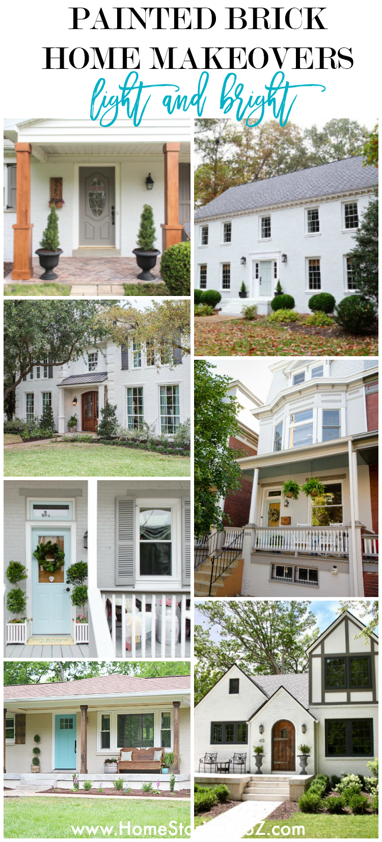 Painted Brick Home Exterior Makeover Before and After Ideas on Brick House Painting Ideas  id=74668