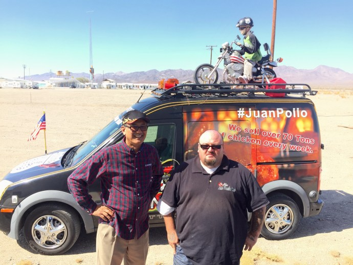 Albert Okura (left) and Charlie Aceves: Amboy, August 2015