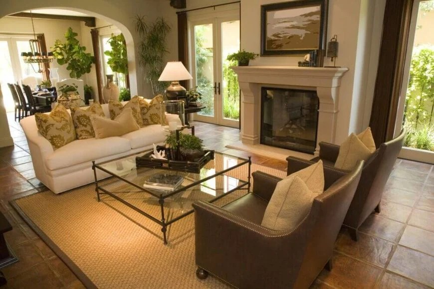 22 Sophisticated Living Rooms With Leather Furniture Designs Home Stratosphere
