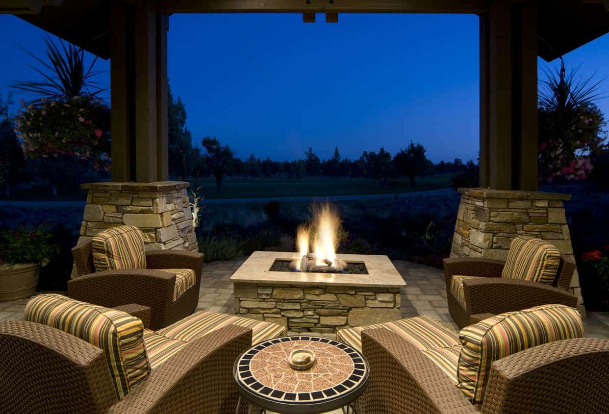 60 Backyard and Patio Fire Pit Ideas (Different Types with ... on Square Patio Designs  id=60849