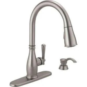 stainless steel kitchen faucet image