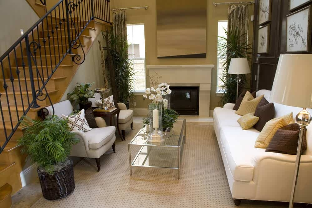 44 Amazing Small Living Room Ideas Photos | Living Room Stairs Design | Home | Classic House | Catalogue | White | Semi Circle House