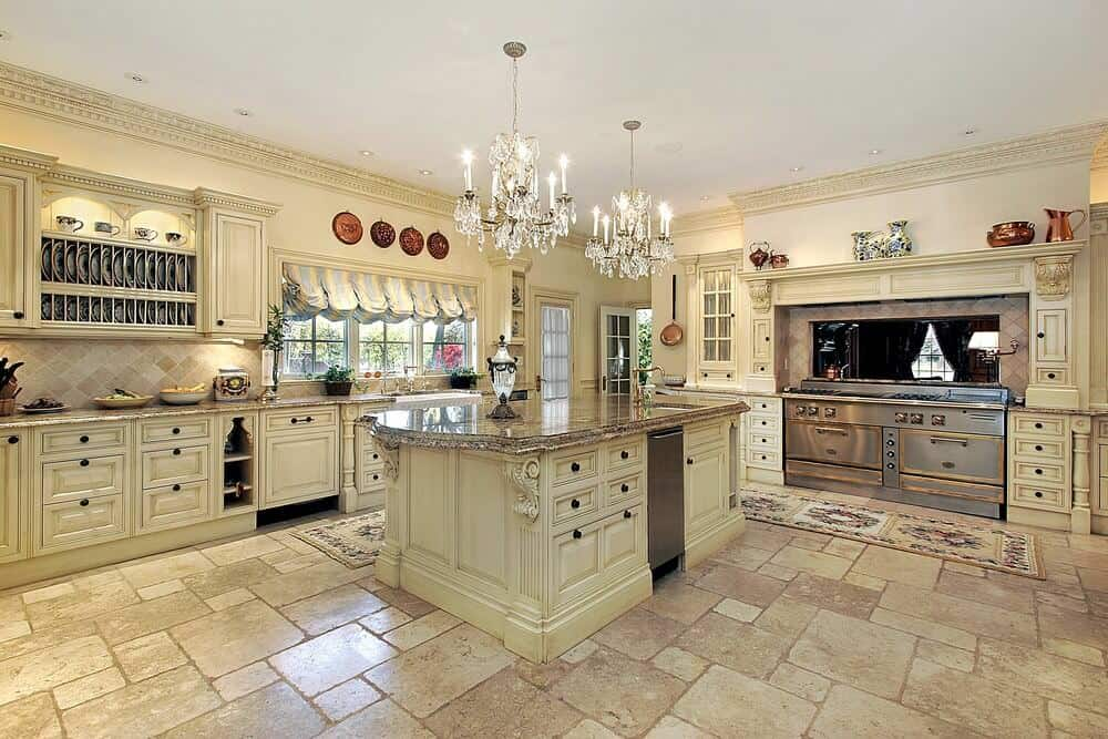 30 Custom Luxury Kitchen Designs that Cost More than  100 000 Gorgeous off white luxury kitchen