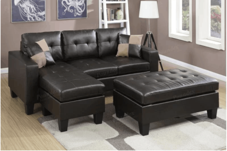 75 Modern Sectional Sofas for Small Spaces  2018  Space saving leather sectional sofa