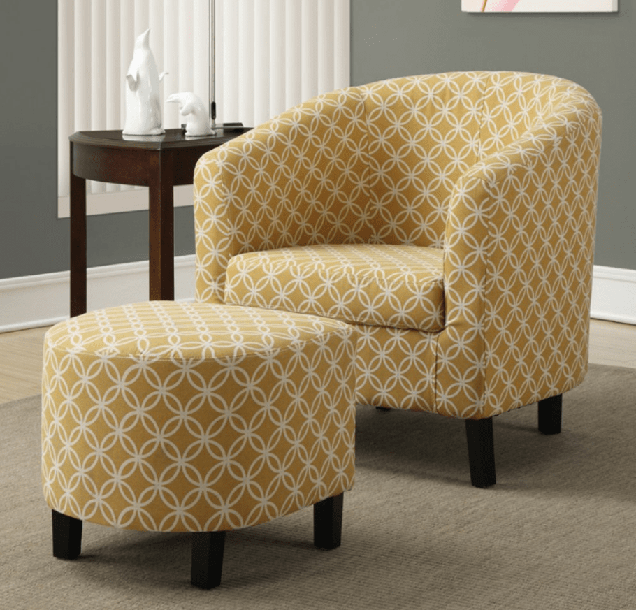 Modern Accent Chair Yellow