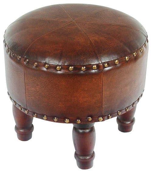 And Tray Round Storage Ottoman