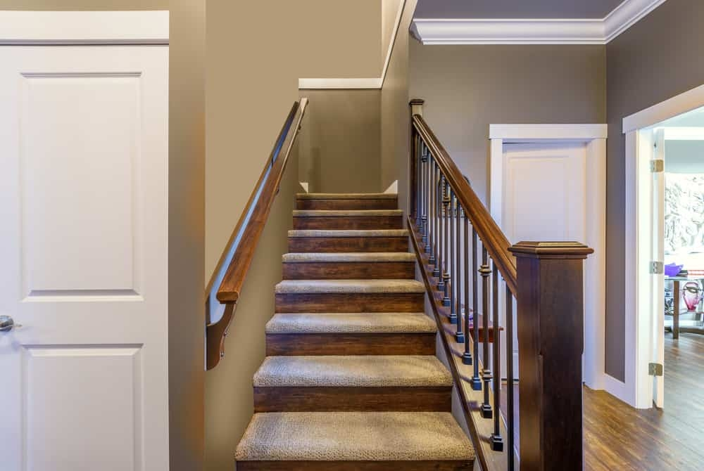 25 Types Of Staircases Custom Diagram For Each Style | Carpet On Tread Only | Wood Stairs | Risers | Stair Tread | Hardwood | Staircase