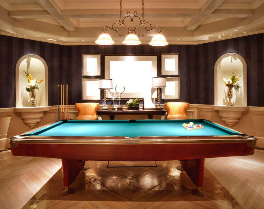 Pool tables come in four sizes, while pool cues range from 4 feet long to 4 feet, 10 inches long, with the middle cue length at 4 feet, 6 inches long. 33 Types of Pool Tables for Fun and Games in Your Home