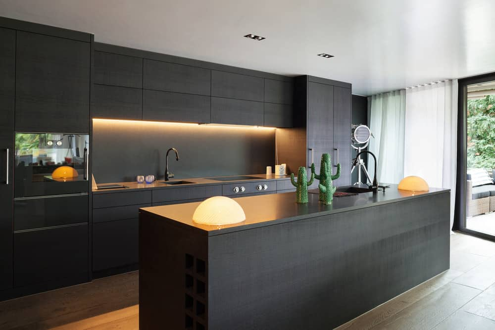 40 Sleek Black Kitchen Ideas and Cabinets (2020 Photos) on Images Of Modern Kitchens  id=49802