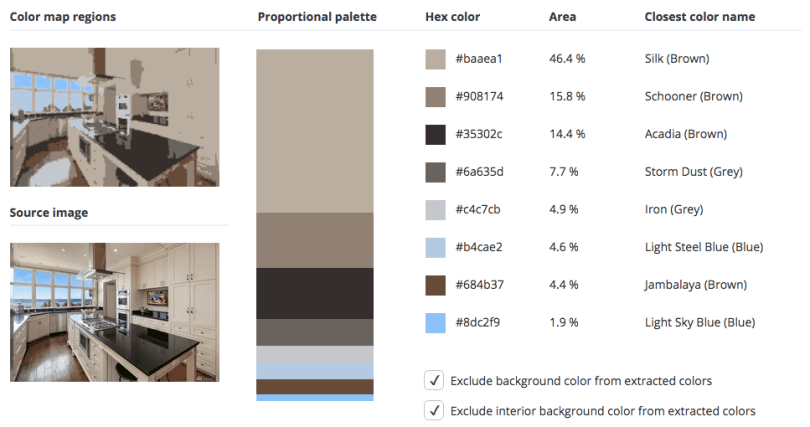 Beige combined with black, grey and a touch of brown and blue.