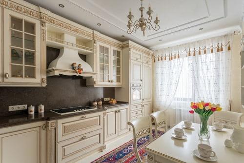 Beige kitchen.