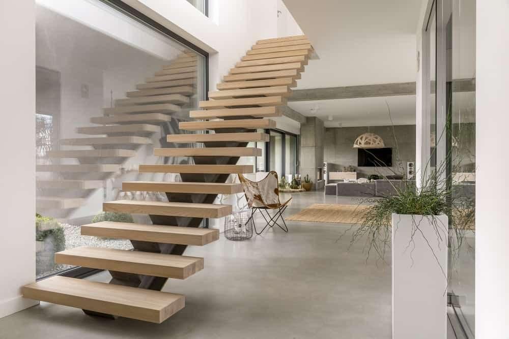 50 Cool Modern Staircase Ideas Photos | Modern Style Stair Railing | Iron | House | Wrought Iron | Modern Luxury | Art Deco