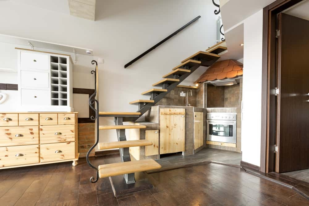 23 Types Of Space Saving Stairs And Staircase Ideas | Kitchen Under Stairs Design | Stair Case | Wet Bar | Basement Stairs | Living Room | Basement Kitchenette
