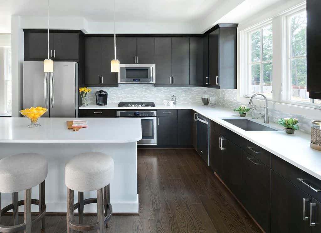 40 Sleek Black Kitchen Ideas and Cabinets (2020 Photos) on Kitchen Countertop Decor  id=60833