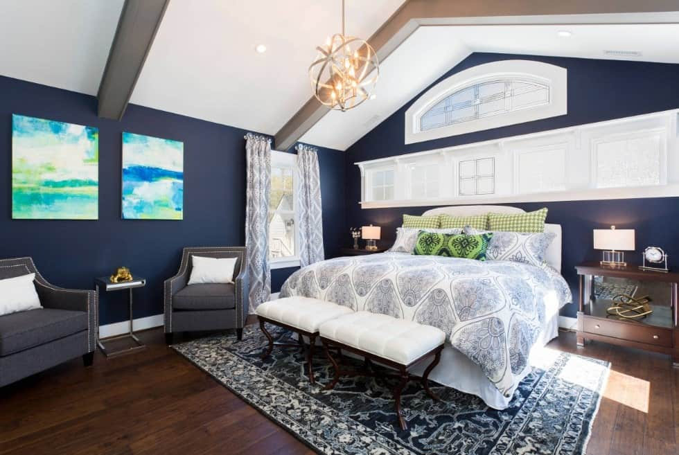 50 blue primary bedroom ideas photos Dark Blue Bedroom Ideas id=18270