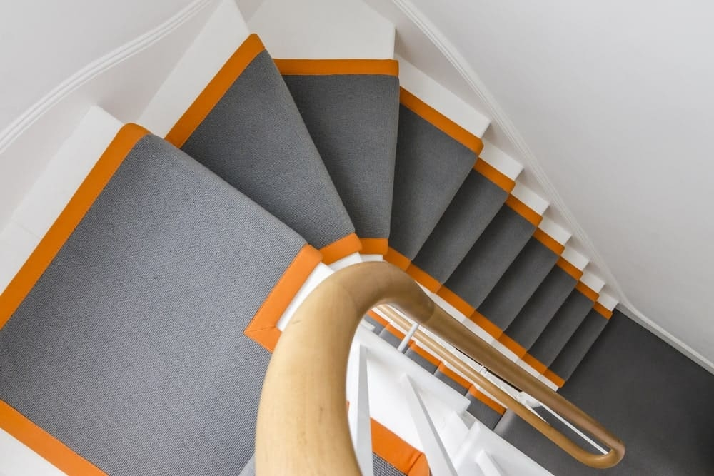 70 Staircases With Carpet Floors Photos | Designer Carpet For Stairs | Stair Railing | Victorian | Flower Design | Treads | American Style