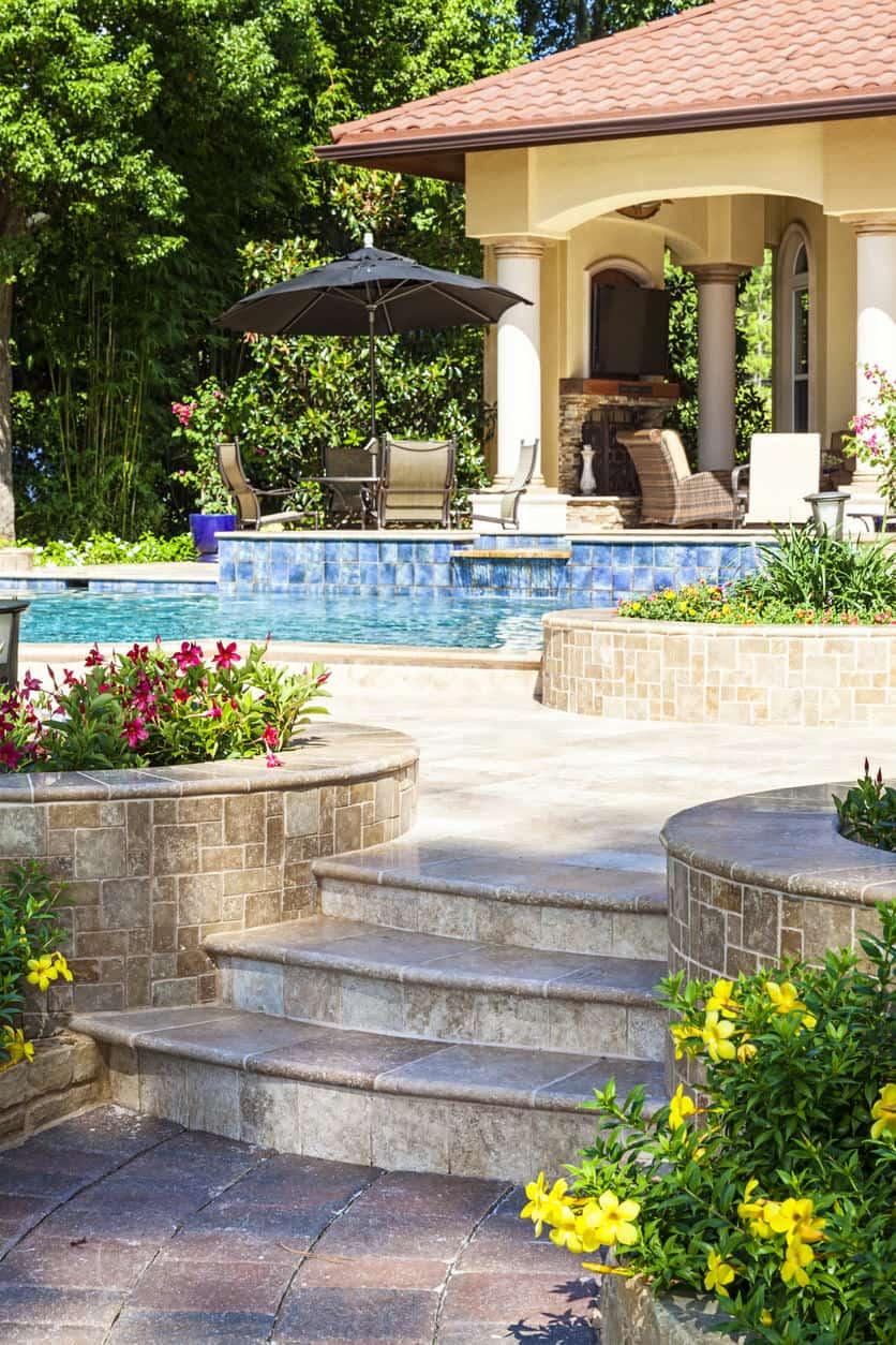 50 Swimming Pool House, Cabana and Pergola Ideas (Photos) on Small Pool Cabana Ideas id=51089