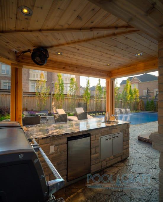 50 Swimming Pool House, Cabana and Pergola Ideas (Photos) on Small Pool Cabana Ideas id=15430