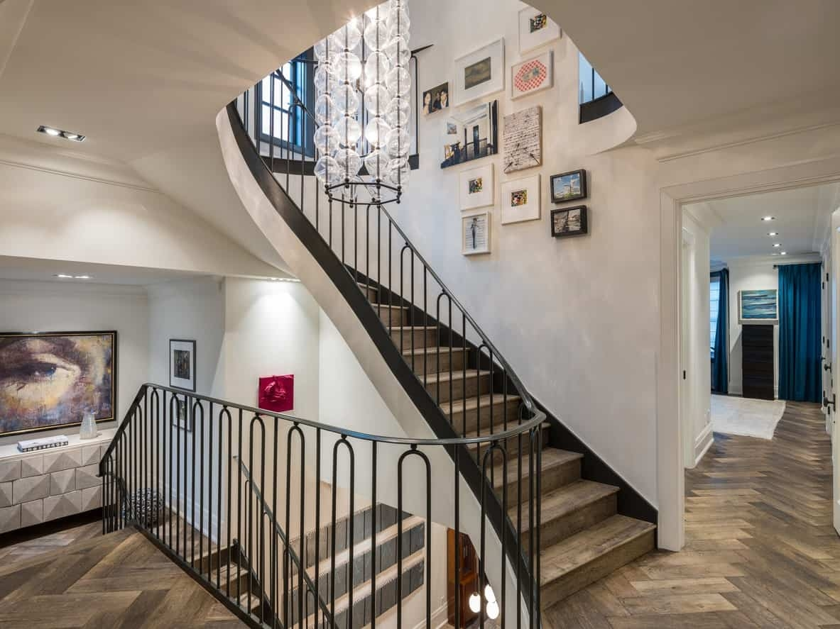 19 Staircase Wall Art Ideas   Duplex House Staircase Wall Design   Tv Cabinet   Stair Wall Paint   Living Room Staircase   Decoration   Exterior Staircase