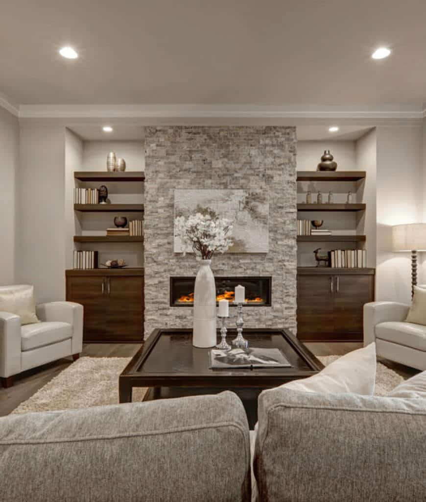 101 Beautiful Living Rooms with Fireplaces of All Types ... on Beautiful Room Pics  id=81858