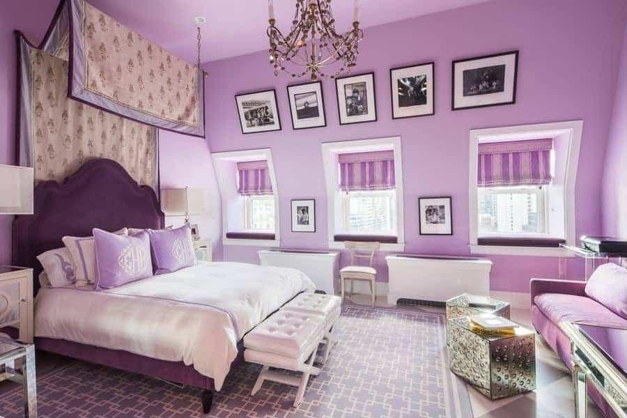 45 purple primary bedroom ideas photos