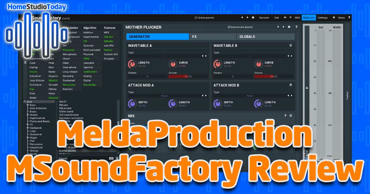 MeldaProduction MSoundFactory Review featured image