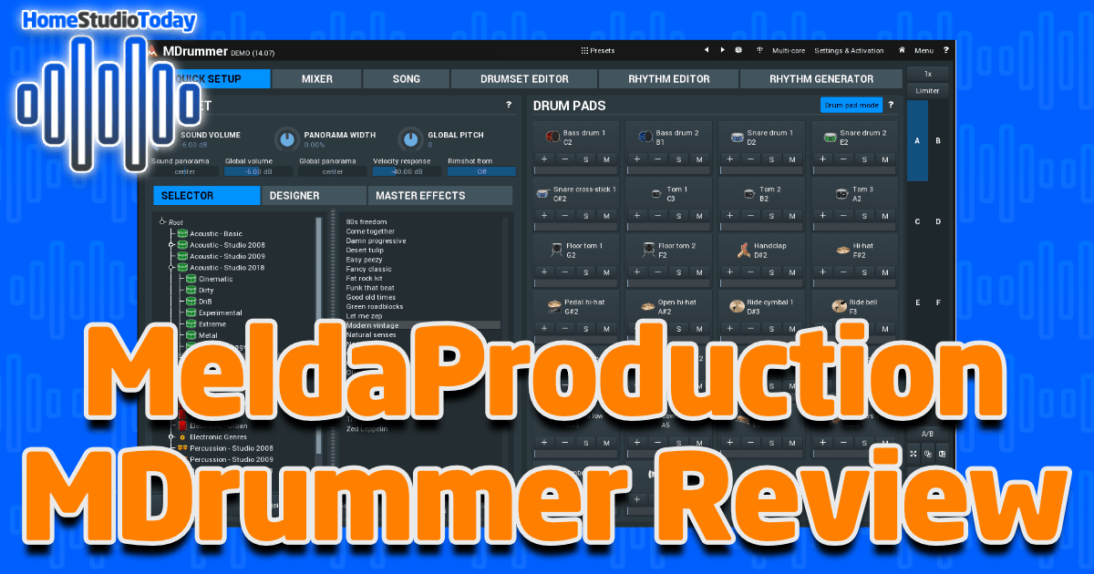 MeldaProduction MDrummer Review featured image