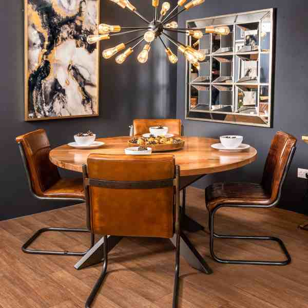 Live Edge Collection Large Round Dining Table