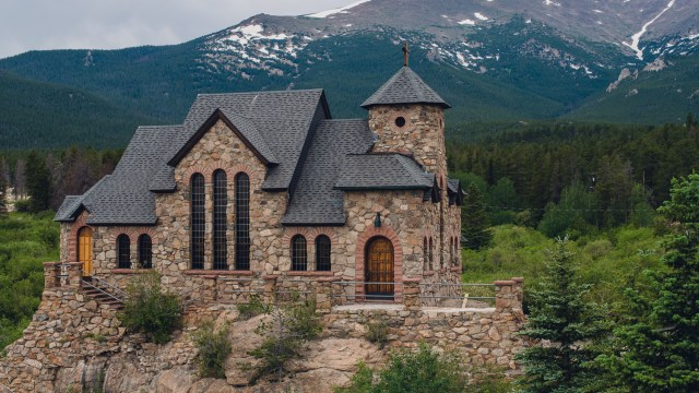 Hidden in the Rockies is a gorgeous little church